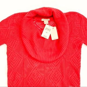 Lucky Brand Red Cowl Neck Sweater